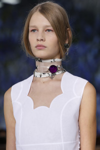 Go bold with necklace statements of tone and colour.