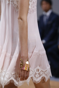 Pair white with gold and some subtle colour with tassels. From Chloe