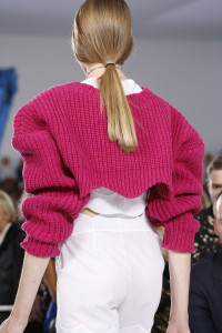 Wear a colourful cardigan and see it's colour pop. From Christian Dior.
