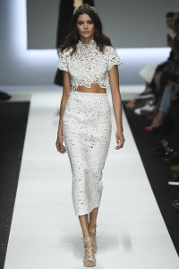 "White with ""diamonds"" both harmonises and highlights anything white. From Ermanno Scervino."