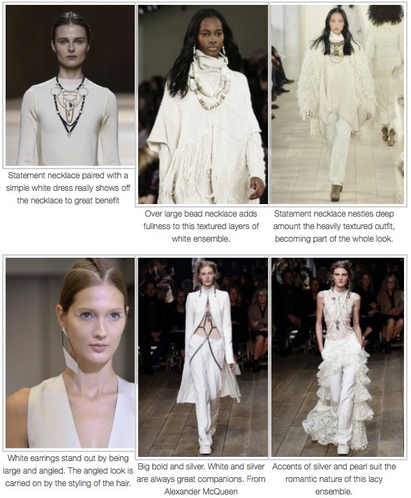 Accessorising 2016 Seasonal trend of white on white ensembles. - Acquired Elegance -