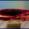 Asian red and gold elephant handbag purse small. open