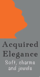 Acquired Elegance logo. Soft charms and jewellery