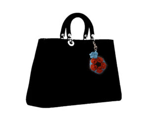 Africa Flower Handbag Charm