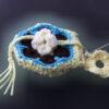 Purselet charm, african flower crochet