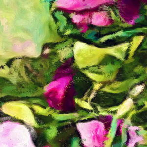 Sweet-pea close up section showing brush strokes.